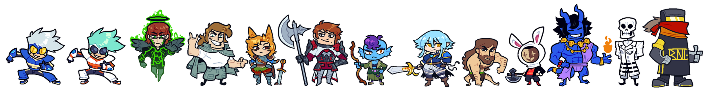 COMMISSION: DnD Group 7 by Cubesona