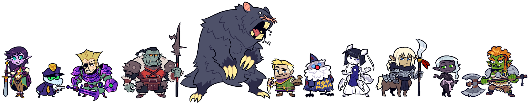 COMMISSION: DnD Group 10 by Cubesona