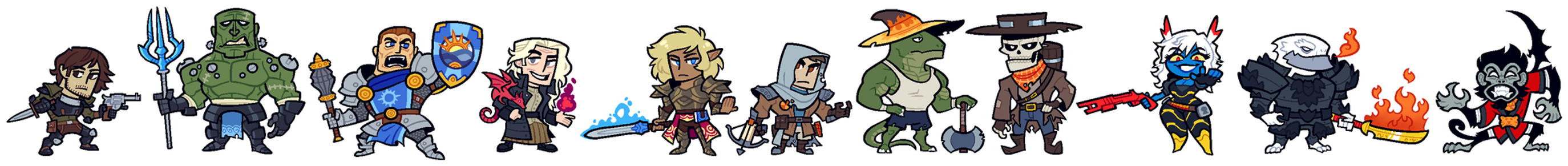 COMMISSION: DnD Group 11 by Cubesona