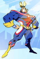 COMMISSION: ALL MIGHT by Cubesona