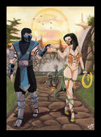 Sub-Zero and Esmeralda's Victory (Requested) by dAdrianArts