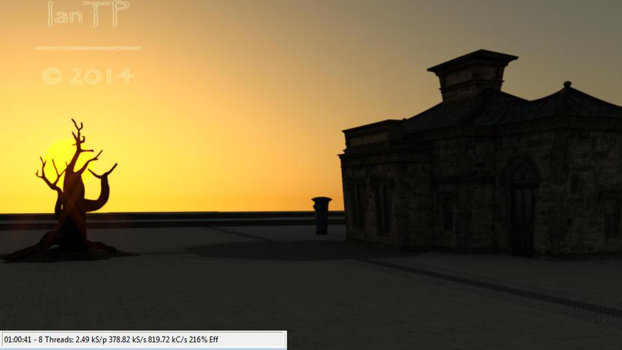 Luxus/Luxrender Low Sun Test by IanTP