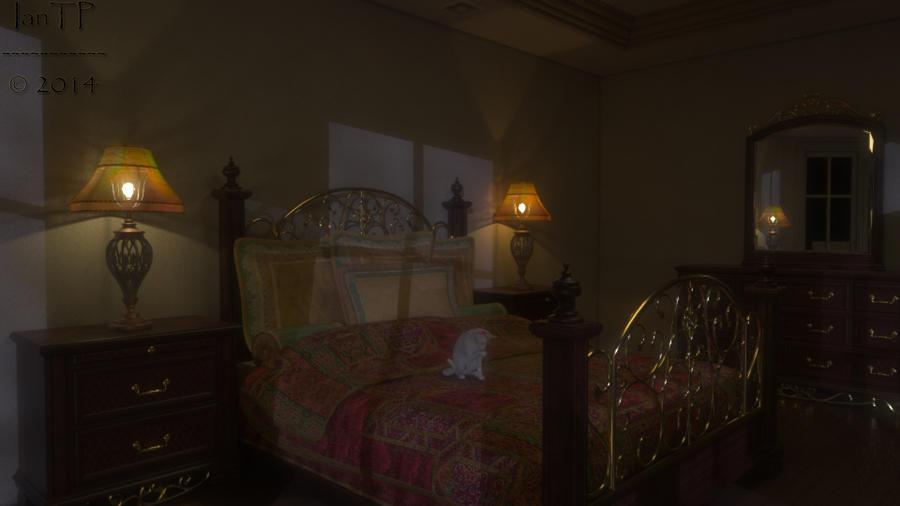 Moonlit Bedroom by IanTP