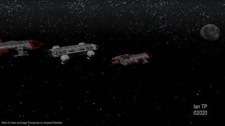 Earth President visits Moonbase Alpha