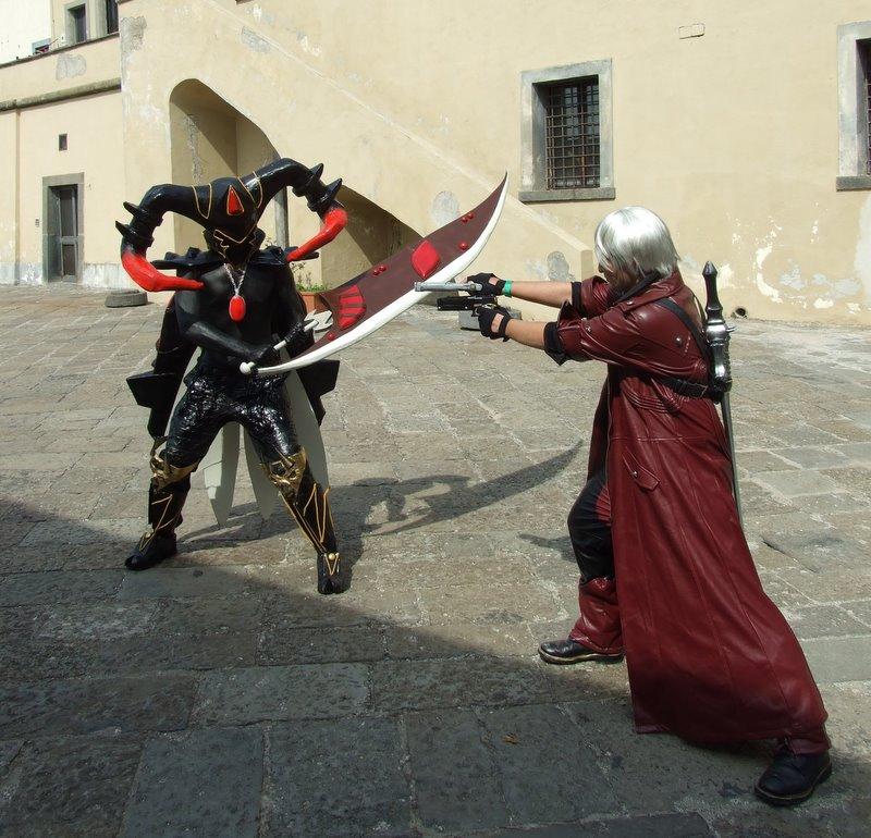 Dante and Sparda by Giambu