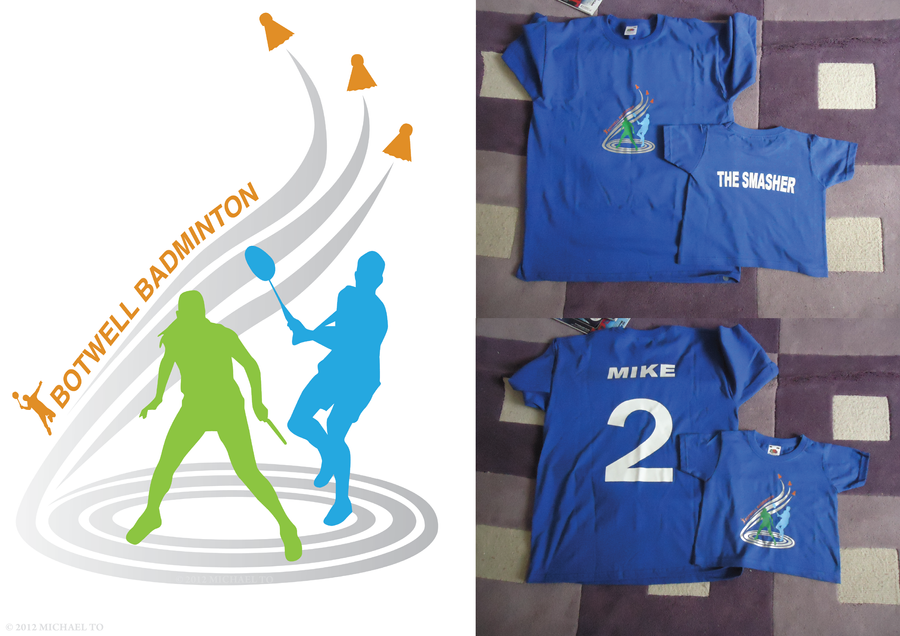 Badminton Logos t Shirts Botwell Badminton t Shirt by