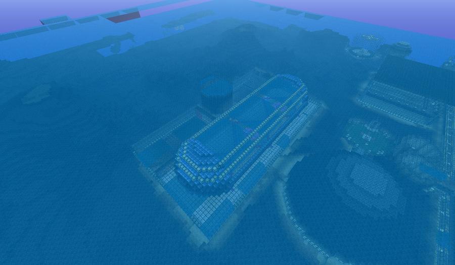 minecraft underwater city world