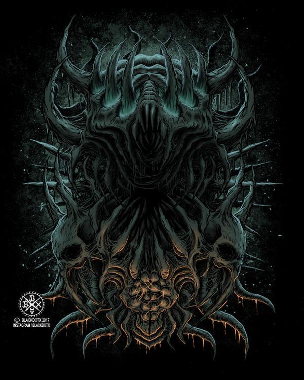 death metalbrutal death metal artwork by blackdotx on
