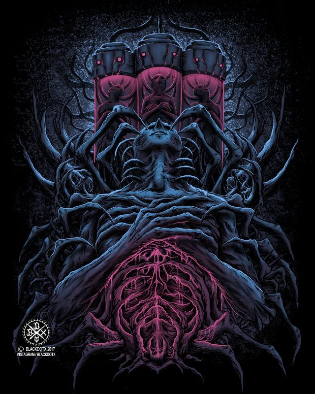 Death metal , Brutal death metal artwork by blackdotx on ...