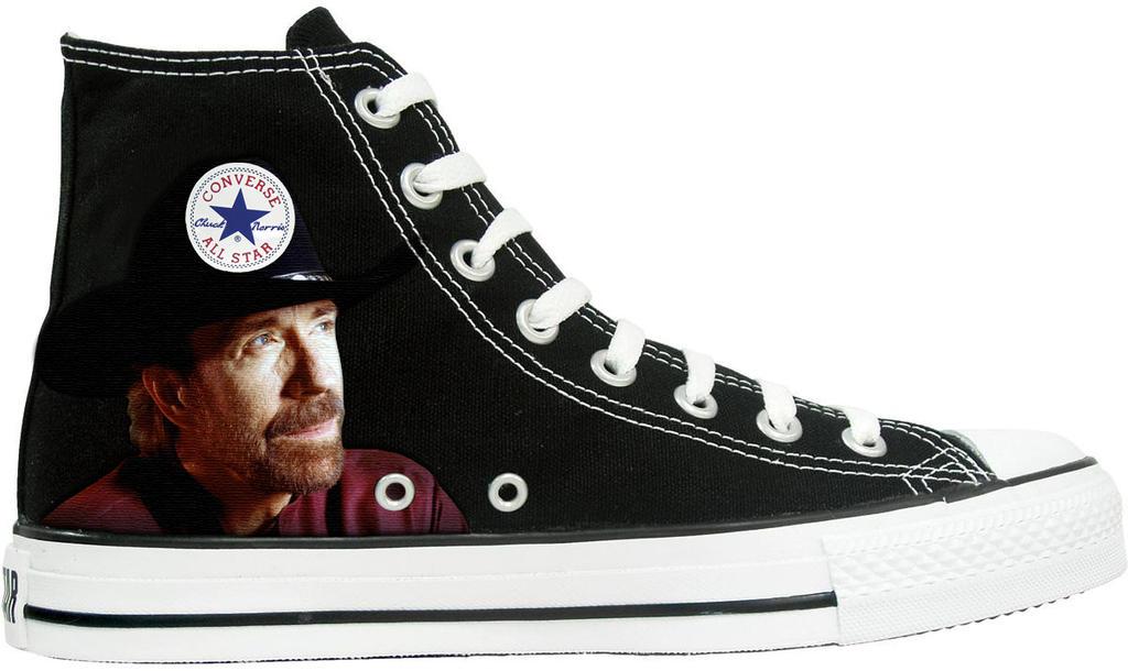 eced65018267 Funny Chuck Norris Converse Shoe. by RickFrost on DeviantArt