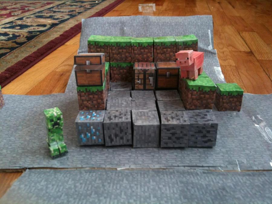 Бумажные модели minecraft №1.