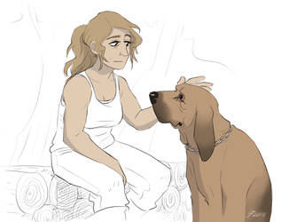 Anna and dog by TheScatterbrain