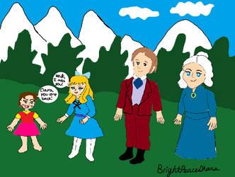 Heidi meets Clara,Mr. Sessmann, Clara's Grandmama by BrightPeaceStars