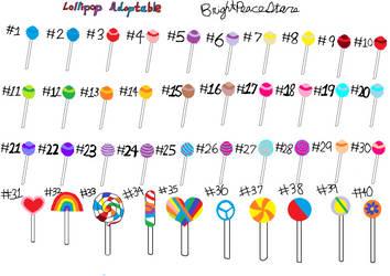 Lollipop adoptable:OPEN by BrightPeaceStars