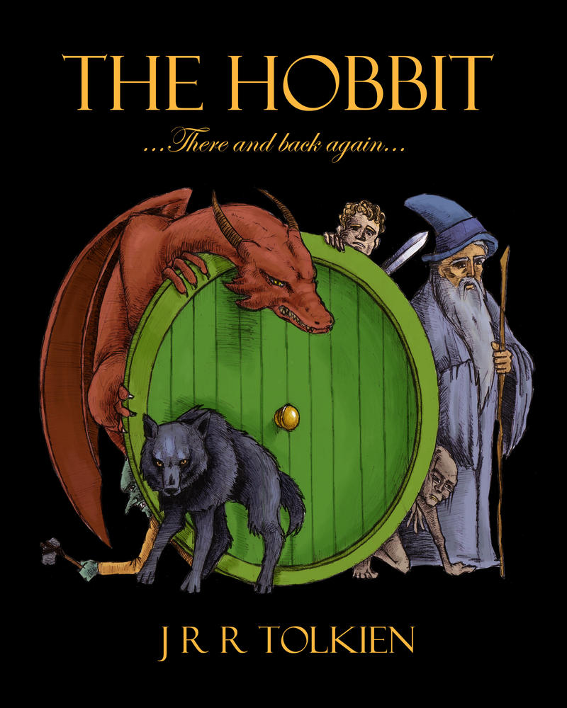 The Hobbit Book Cover Art : The hobbit cover by fredwong on deviantart