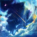 weightless and horizontal ,