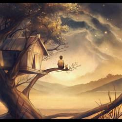 John and maus : tree house. by megatruh