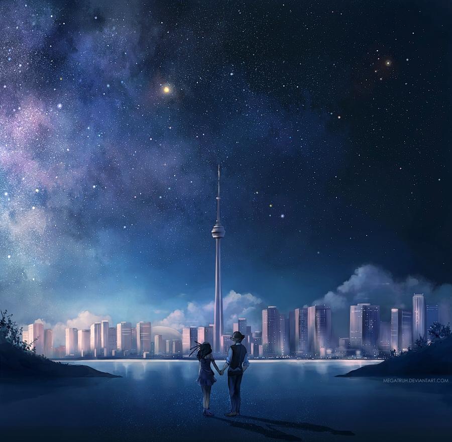 night over Toronto . by megatruh