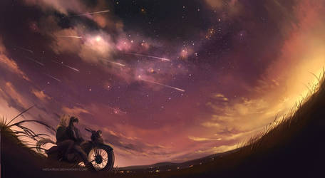the perseids by megatruh