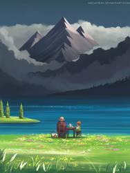 Sophie and Markl at Star lake by megatruh