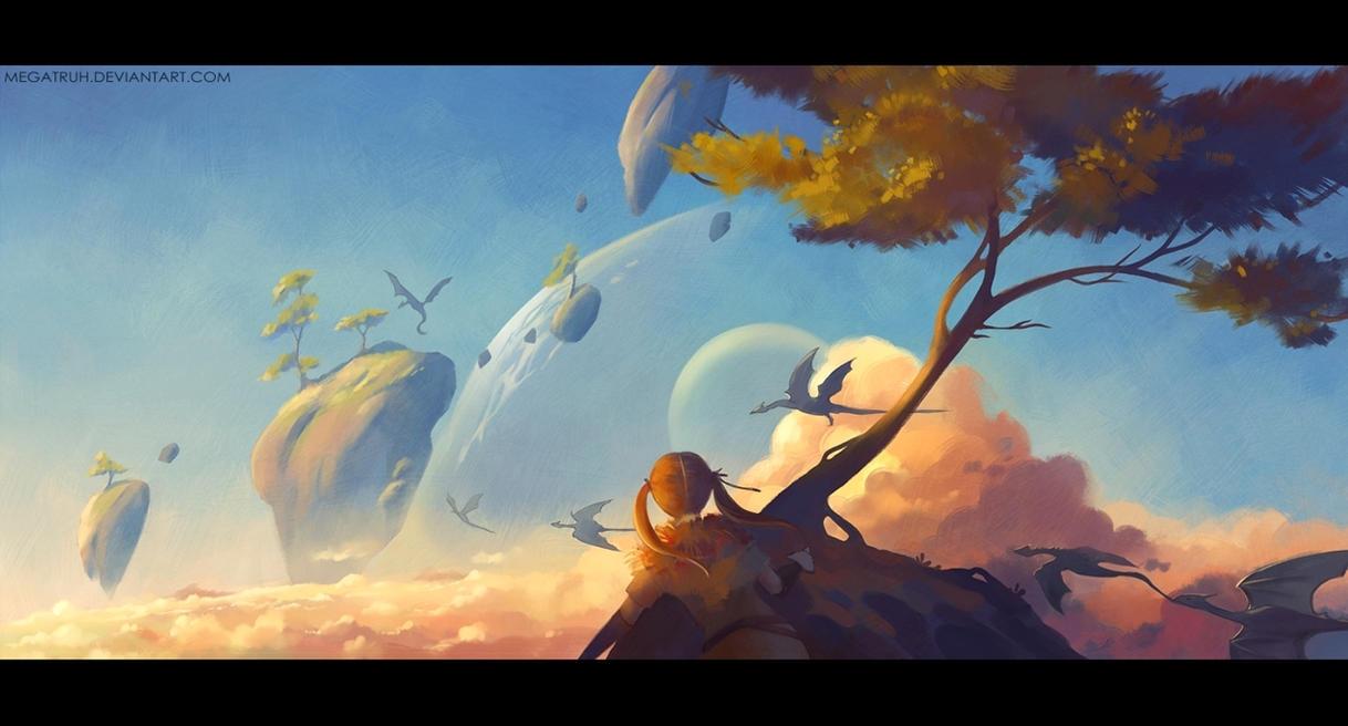 dragon flight. by megatruh