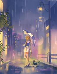umbrella usagi by megatruh