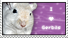 Stamp - I Love Gerbils by BozMurphy