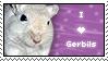 Stamp - I Love Gerbils by BozMurphy