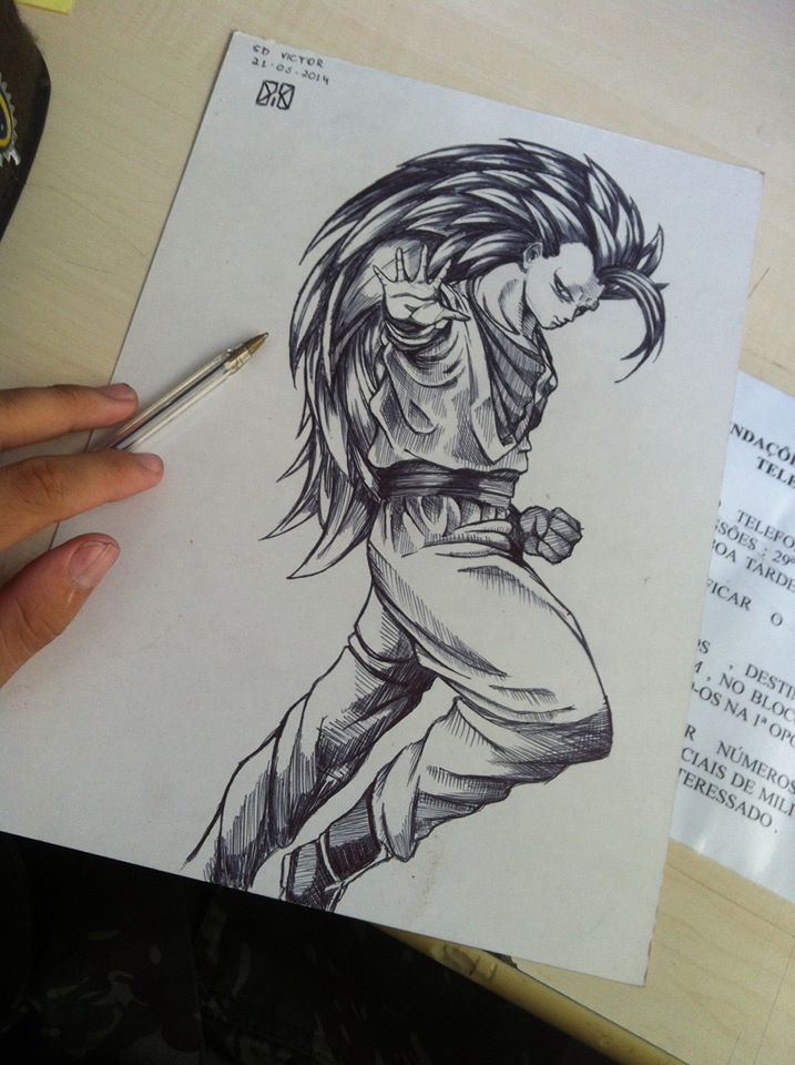 Goku sketch pencil by dxiiiae