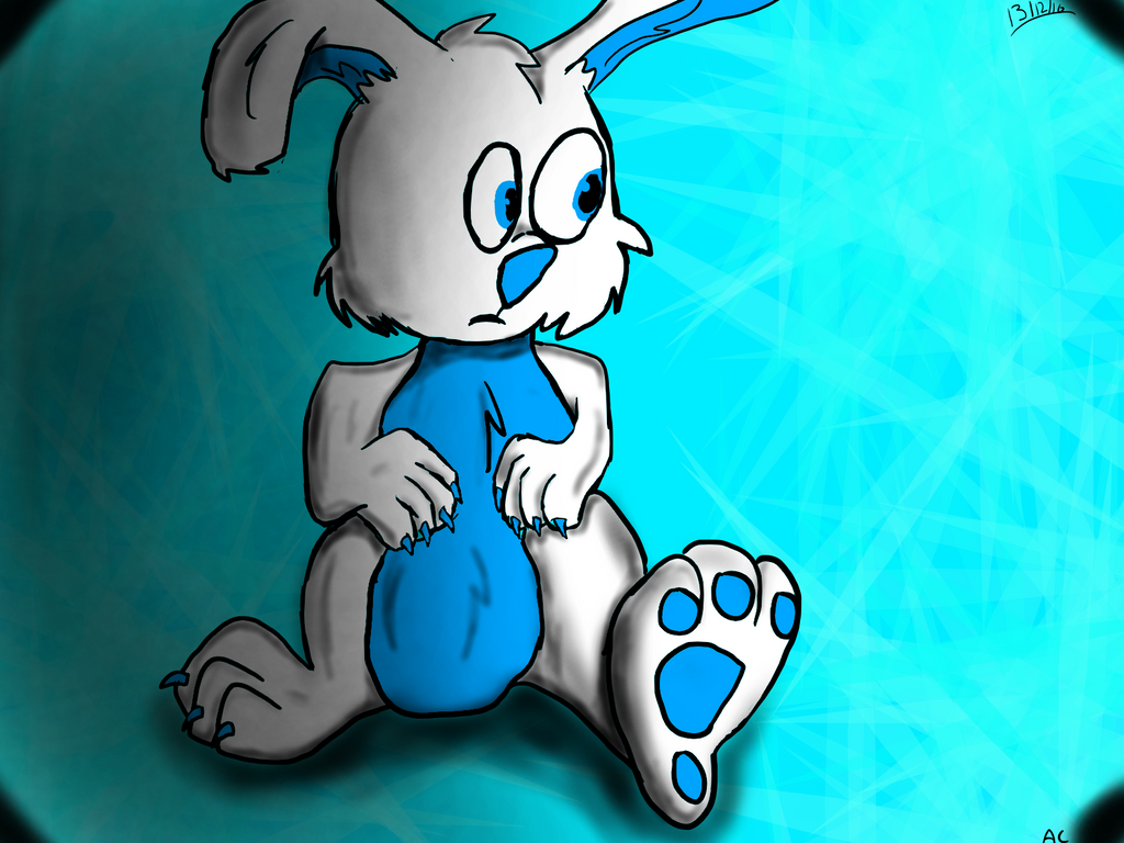 blue as a rabbit by lol-wolf118