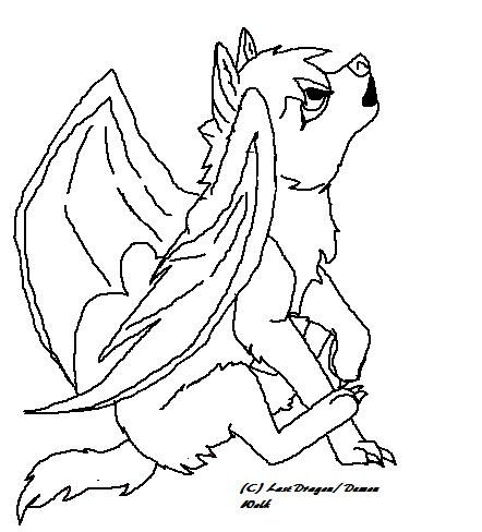 Demon Wolf Pup LineArt by LastDragon6721 on DeviantArt