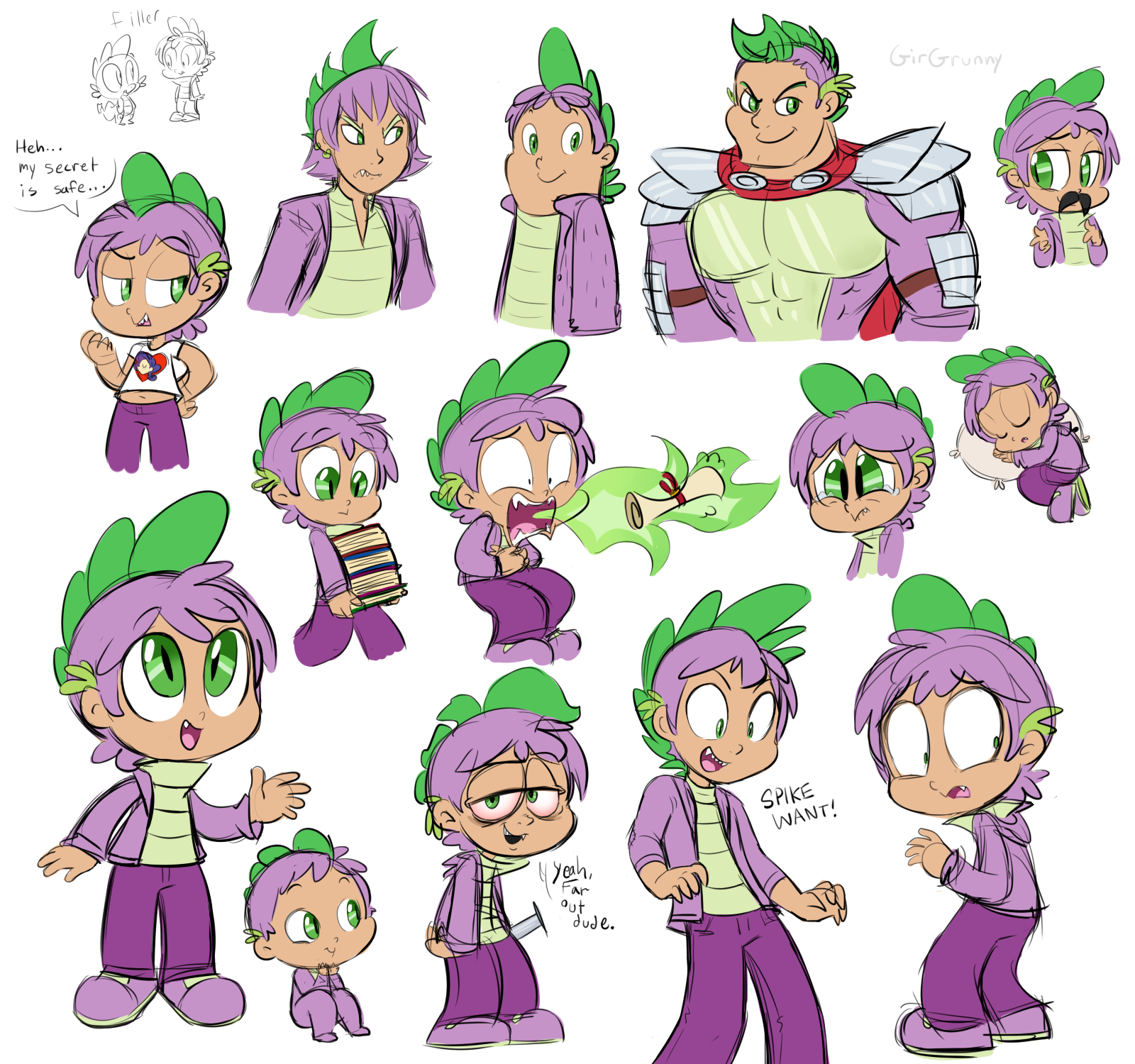 Spike is Best Person by GirGrunny