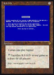 Magic Card-BSOD by entropy16