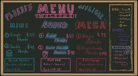 Commissions Open! [Phoebe's Menu]