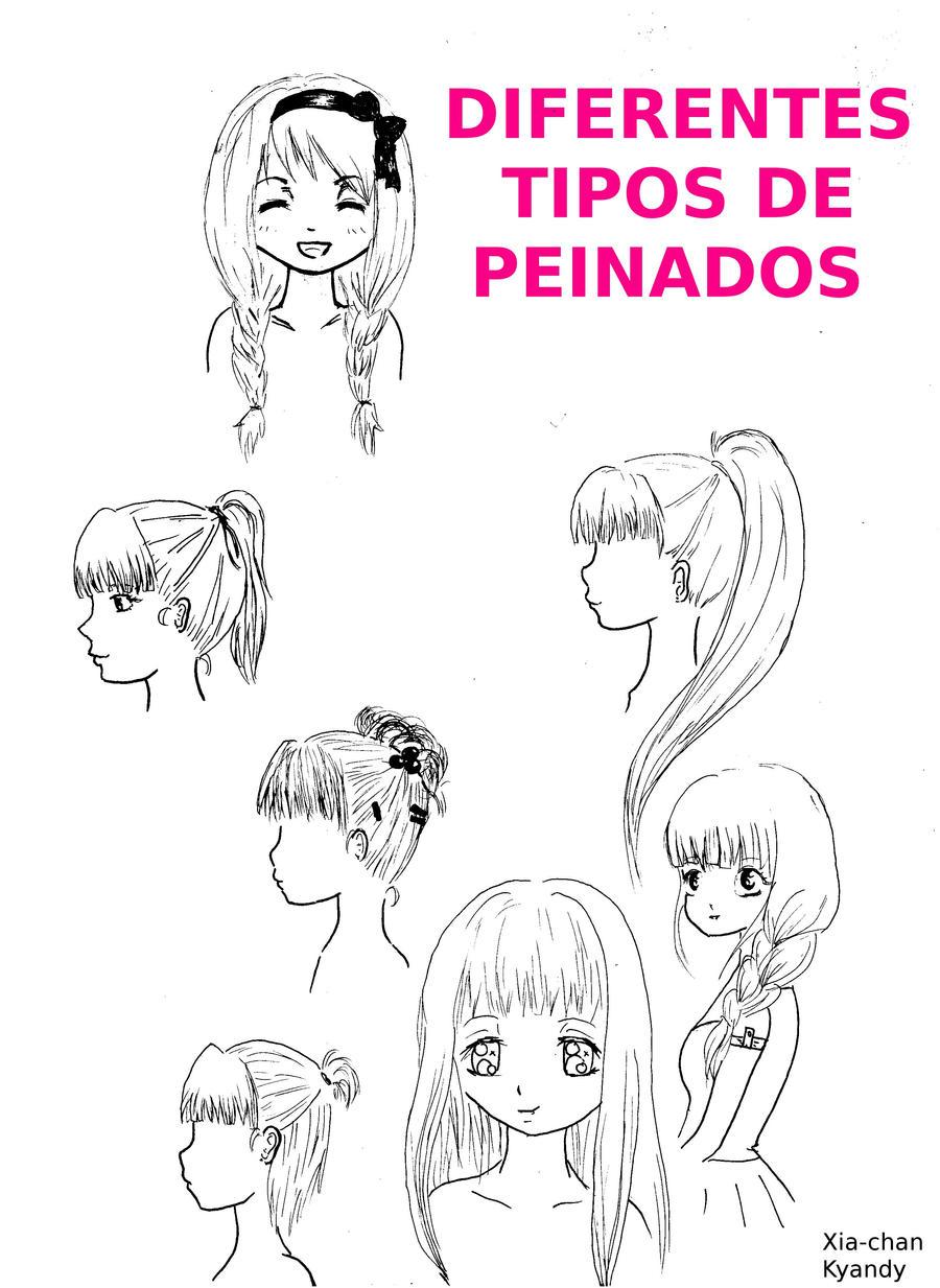 Fácil peinados manga Colección De Cortes De Pelo Tutoriales - Tipos de peinados manga by Xia-Kyandy