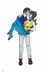Lupin The 3Rd carrying Stephanie by 4M1R