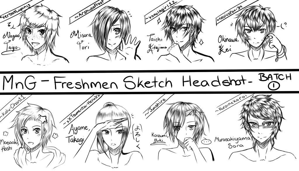 Mng: Freshmen Sketch Batch 1/5 by Tsurana