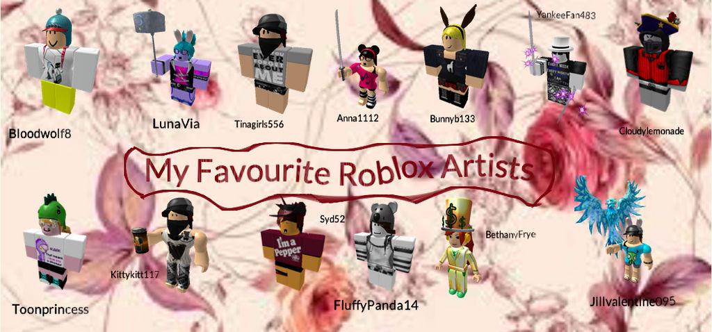 My Favourite Roblox Artists Girls By Elee999 On Deviantart