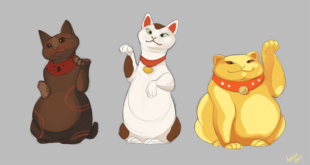 Lucky Cats by GreekCeltic
