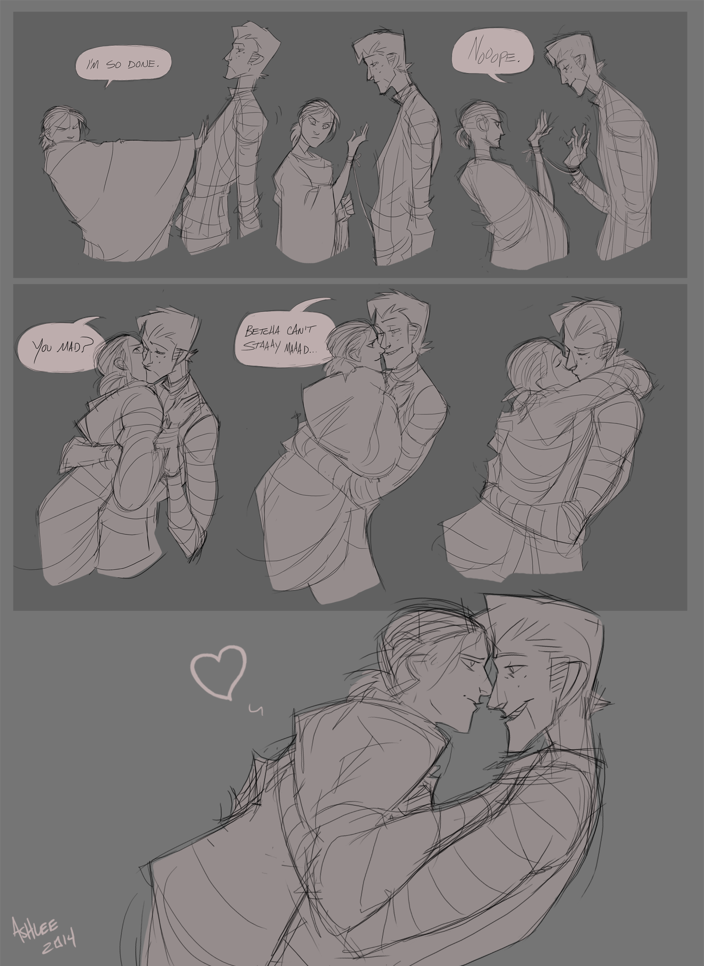 Kiss, pg 2 by GreekCeltic