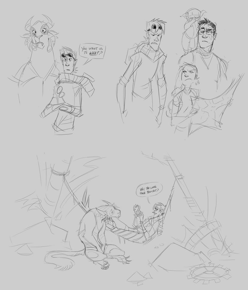 Guild Wars 2 Doodles by GreekCeltic