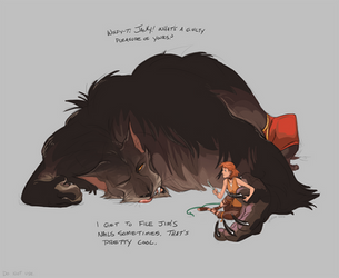 Jacky Ask 1 Big dumb cat by GreekCeltic