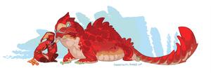 Chubby tubby lizard friend