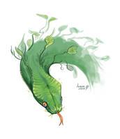 Green snake by GreekCeltic