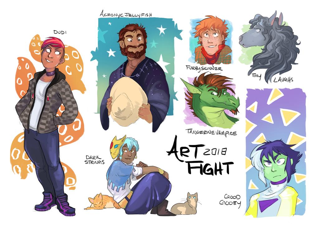 Art Fight Batch 3 by GreekCeltic