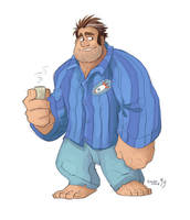 Ralph in some pajamas. by GreekCeltic