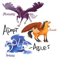 Adoptable Horses by GreekCeltic