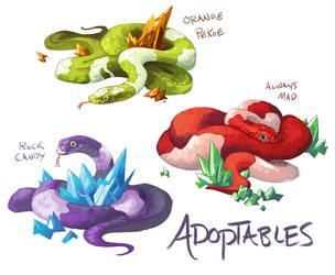 Gem Snake Adoptables by GreekCeltic