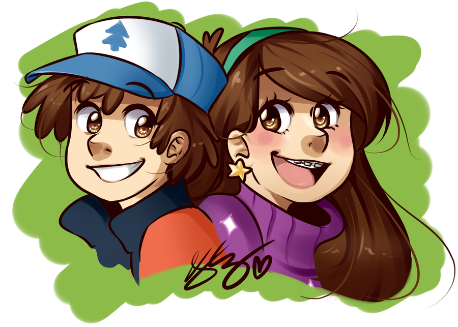 Mabel and Dipper by Pyonkotcchi