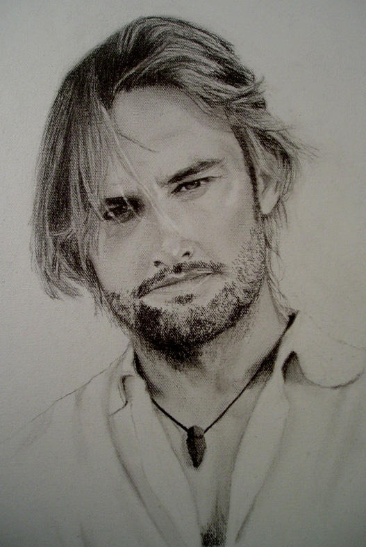 Sawyer Portrait-in-Progress by GhostsintheMachine